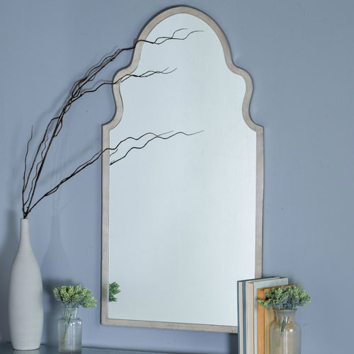Leighton Silver Arched Mirror