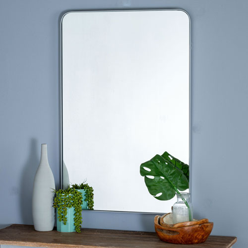 Ryne Silver Rectangular Mirror