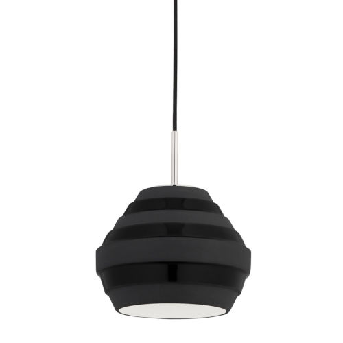Calverton Polished Nickel and Black One-Light Pendant