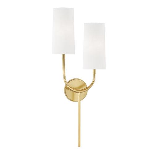 Vesper Aged Brass Two-Light Wall Sconce