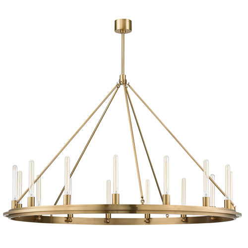 Chambers Aged Brass 15-Light Pendant