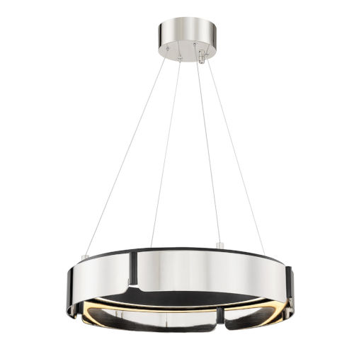 Tribeca Burnished Nickel Black 21-Inch One-Light LED Chandelier