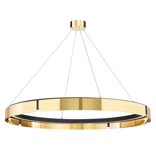 Tribeca Aged Brass Black 49-Inch One-Light LED Chandelier