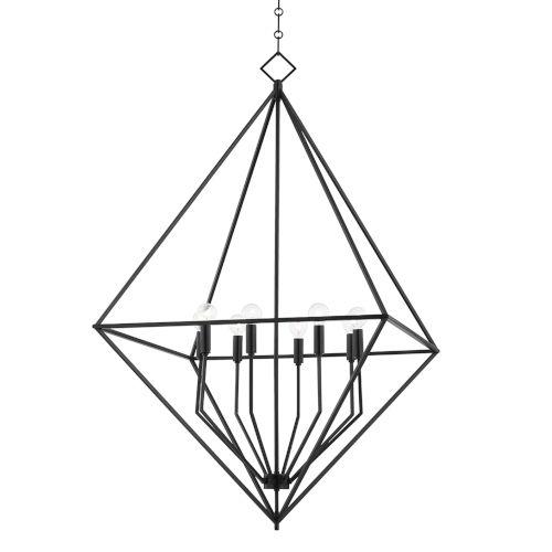 Haines Aged Iron Eight-Light Pendant