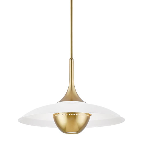 Clarkson Aged Brass One-Light Pendant