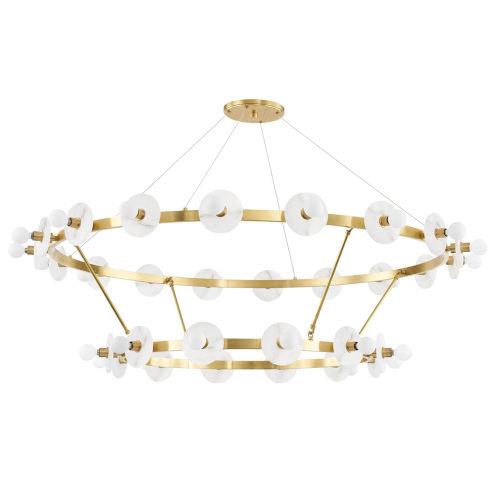 Austen Aged Brass 30-Light Chandelier