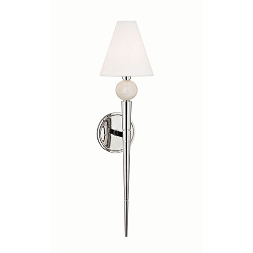 Vanessa Polished Nickel One-Light Wall Sconce