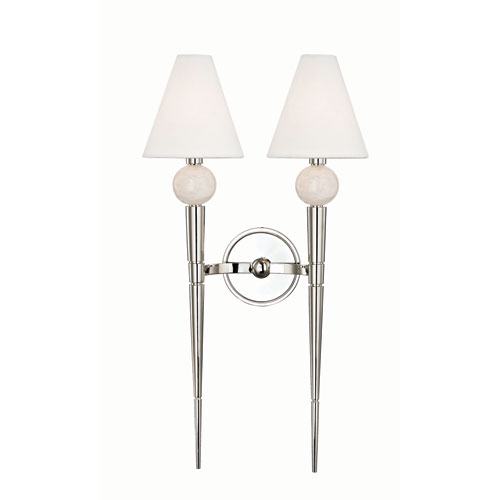 Hudson Valley Vanessa Polished Nickel Two-Light Wall Sconce