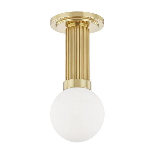 Reade Aged Brass LED Flush Mount
