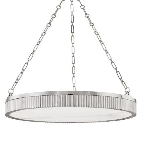 Lynden Polished Nickel Eight-Light Chandelier