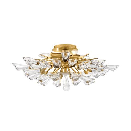 Tulip Gold 40-Inch Nine-Light Chandelier