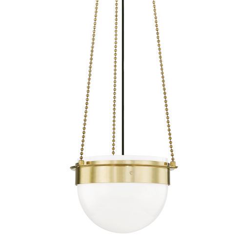 Silo Aged Brass 15-Inch One-Light Pendant