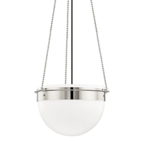 Silo Polished Nickel 19-Inch One-Light Pendant
