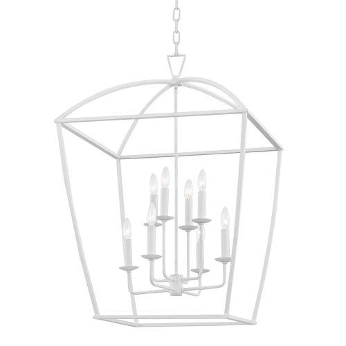Bryant White Eight-Light Large Pendant