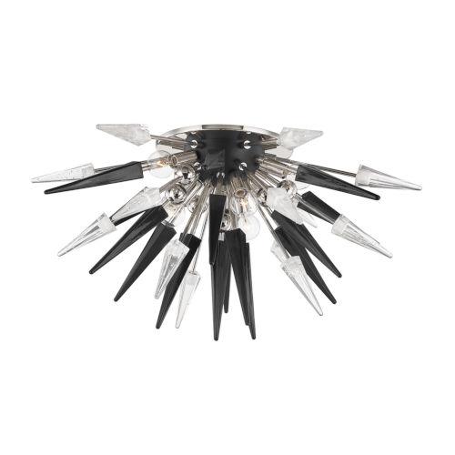 Sparta Polished Nickel Six-Light Semi Flush Mount
