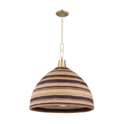 Lido Beach Aged Brass One-Light Pendant