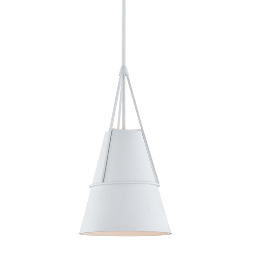 Lange White 10-Inch One-Light Pendant