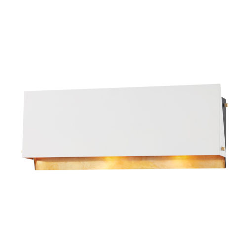 Ratio Aged Brass 19-Inch Two-Light Wall Sconce