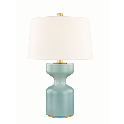 Hudson Valley Locust Teal One-Light Table Lamp