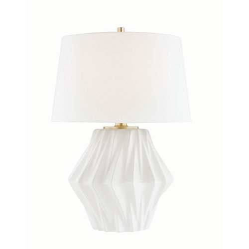 Hudson Valley Bertram White One-Light Table Lamp