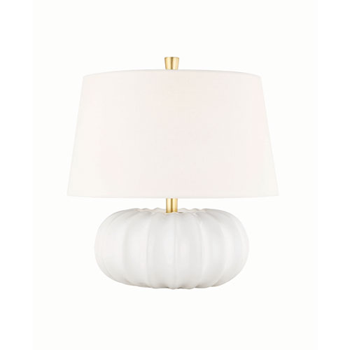 Bowdoin White Four-Inch One-Light Table Lamp