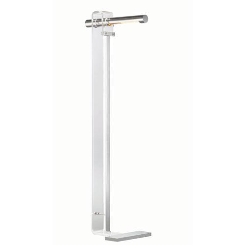 Hillcrest Clear Nine-Inch One-Light LED Floor Lamp