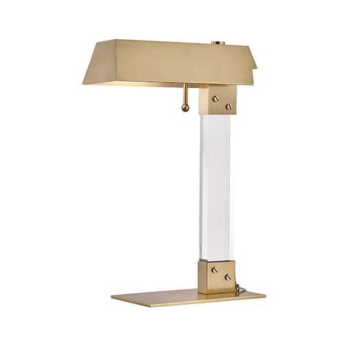 Hunts Point Aged Brass One-Light Table Lamp