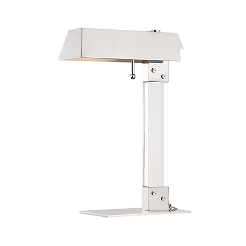 Hunts Point Polished Nickel One-Light Table Lamp