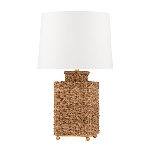 Weaver Gold and White One-Light Table Lamp