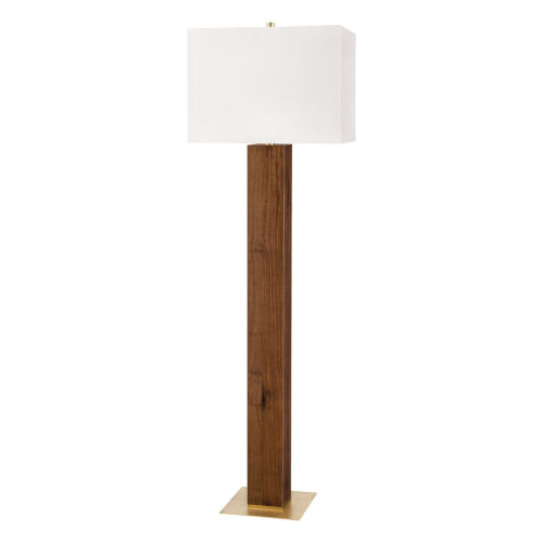 Waltham Aged Brass One-Light Shaded Floor Lamp