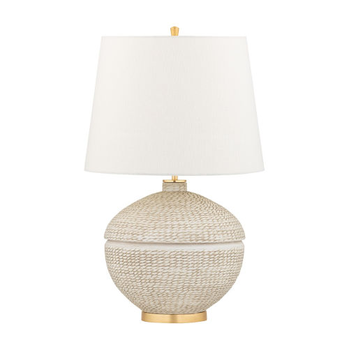 Katonah Gold and White One-Light Table Lamp