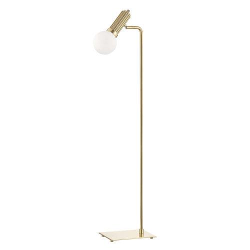 Reade Aged Brass LED Armchair Floor Lamp
