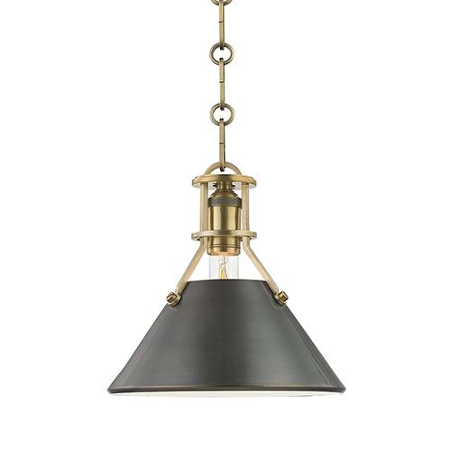 Metal No. 2 Gold and Bronze One-Light Mini Pendant