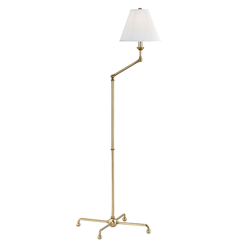 Classic No.1 Gold and Off White One-Light 23-Inch Floor Lamp