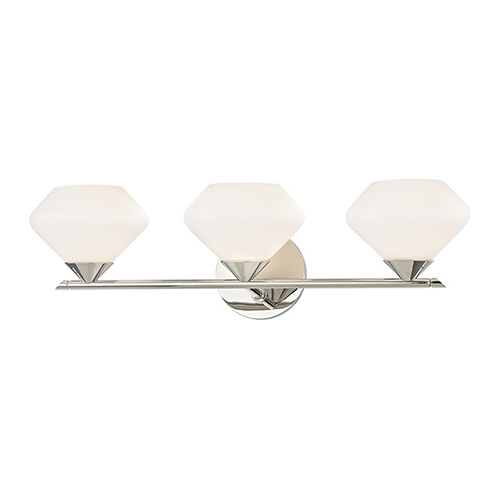 Mitzi by Hudson Valley Lighting Valerie Polished Nickel 3-Light 22-Inch Bath Vanity