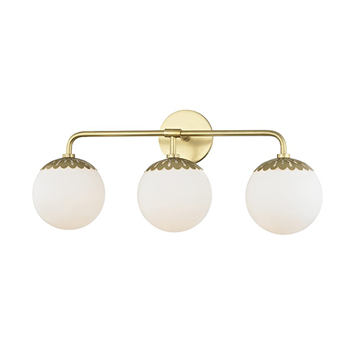 Paige Aged Brass 3-Light 24-Inch Bath Vanity