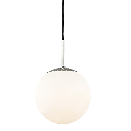 Mitzi by Hudson Valley Lighting Paige Polished Nickel 1-Light 10.5-Inch Pendant