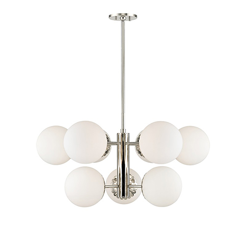 Mitzi by Hudson Valley Lighting Paige Polished Nickel 9-Light 33-Inch Chandelier