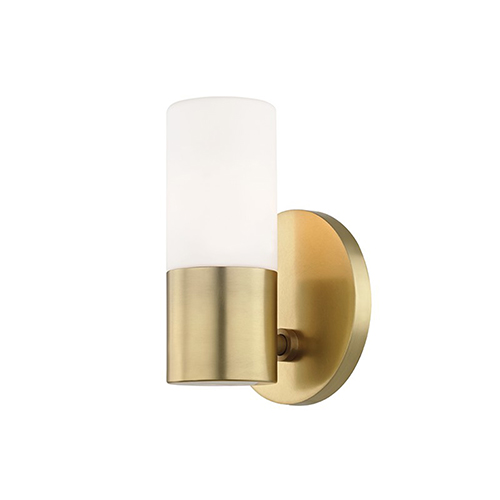 Mitzi by Hudson Valley Lighting Lola Aged Brass LED Five-Inch Wall Sconce