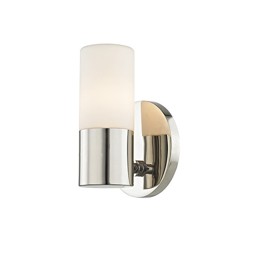 Mitzi by Hudson Valley Lighting Lola Polished Nickel LED Five-Inch Wall Sconce