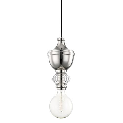 Mitzi by Hudson Valley Lighting Elliot Polished Nickel 1-Light Six-Inch Mini Pendant