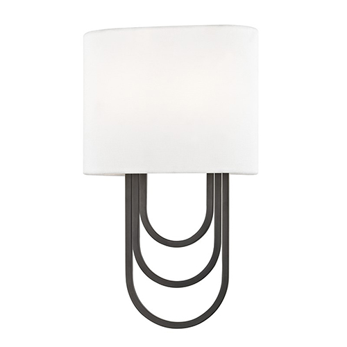 Mitzi by Hudson Valley Lighting Farah Old Bronze 2-Light 8-Inch Wall Sconce