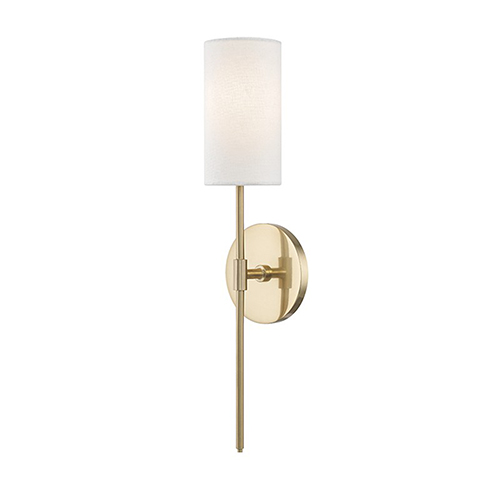 Olivia Aged Brass 1-Light Five-Inch Wall Sconce