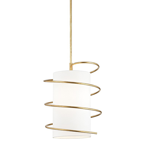 Carly Gold Leaf 1-Light 15-Inch Pendant