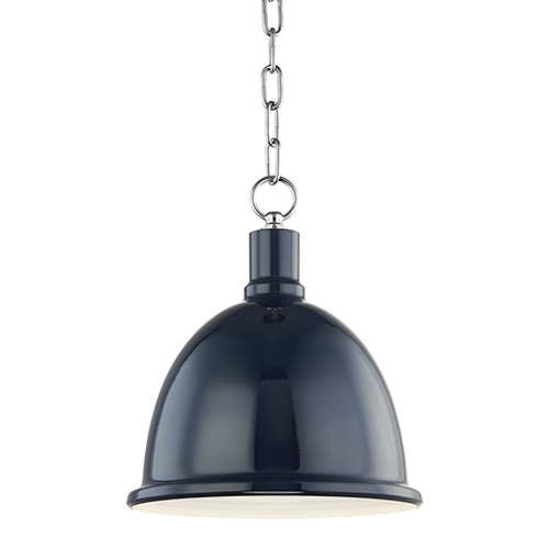 Blair Polished Nickel 1-Light 11-Inch Pendant