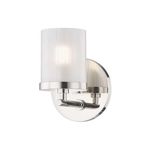 Ryan Polished Nickel 1-Light Five-Inch Bath Sconce
