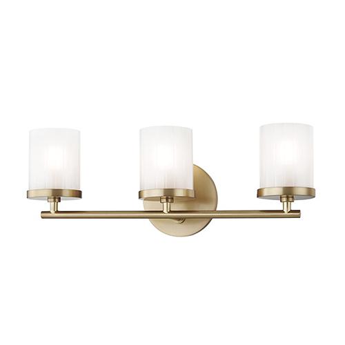 Mitzi by Hudson Valley Lighting Ryan Aged Brass 3-Light 17.5-Inch Bath Vanity