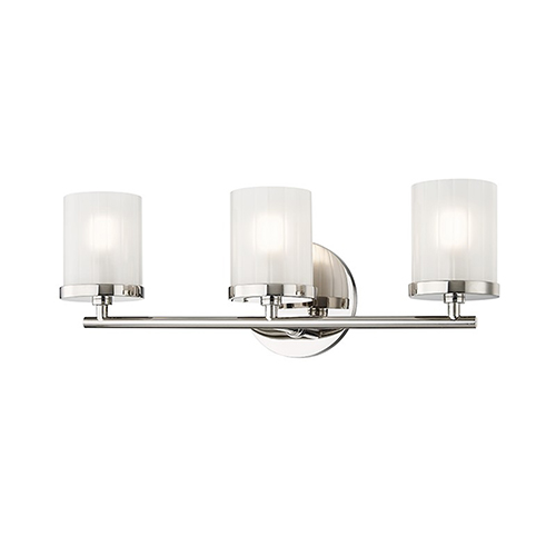 Mitzi by Hudson Valley Lighting Ryan Polished Nickel 3-Light 17.5-Inch Bath Vanity