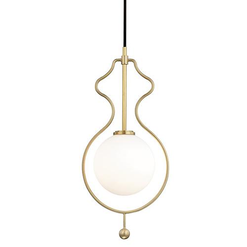 Abigail Aged Brass LED 10-Inch Mini Pendant