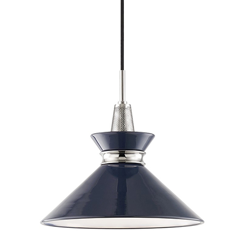 Mitzi by Hudson Valley Lighting Kiki Polished Nickel 1-Light 14-Inch Pendant